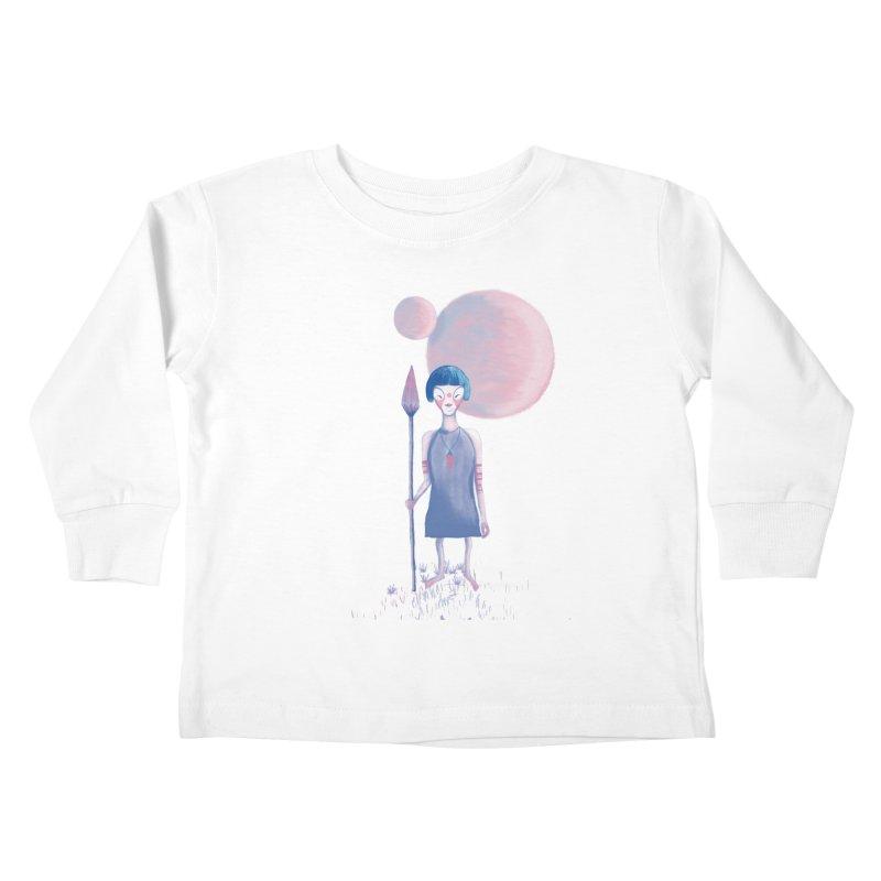 Girl from Kepler planet Kids Toddler Longsleeve T-Shirt by jrbenavente's Shop