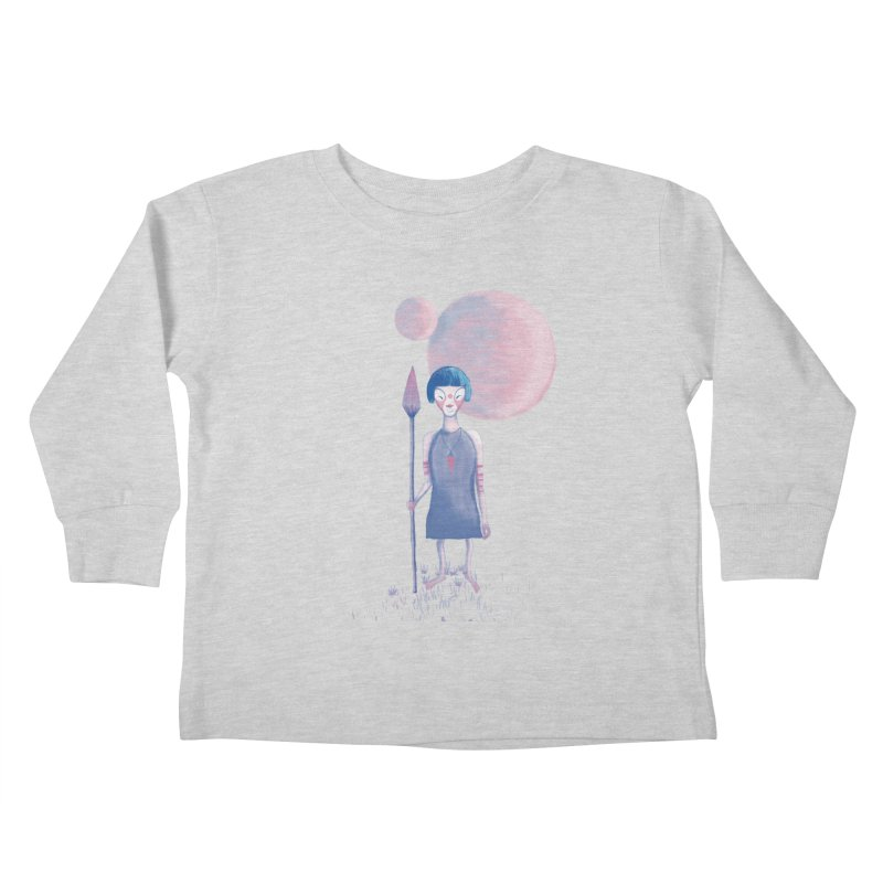 Girl from Kepler planet Kids Toddler Longsleeve T-Shirt by jrbenavente's Shop