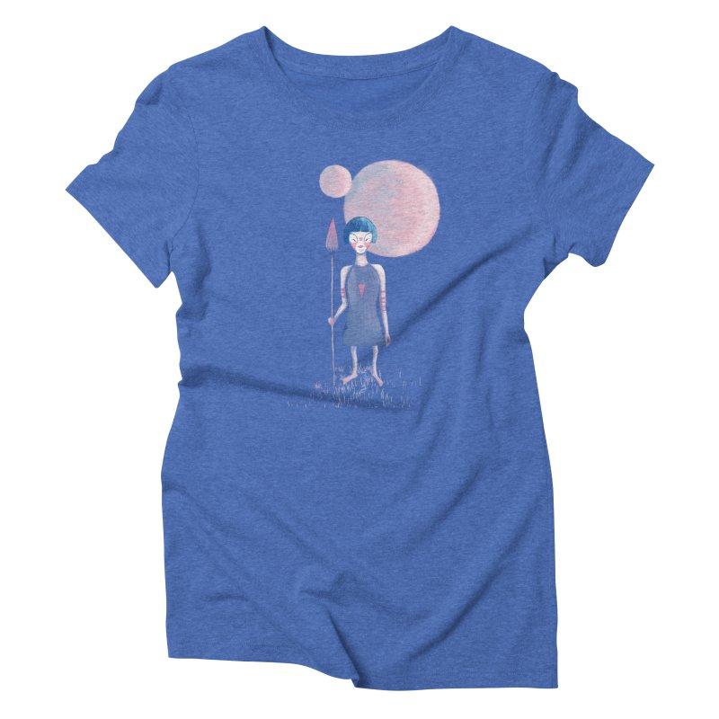 Girl Women's Triblend T-Shirt by jrbenavente's Shop