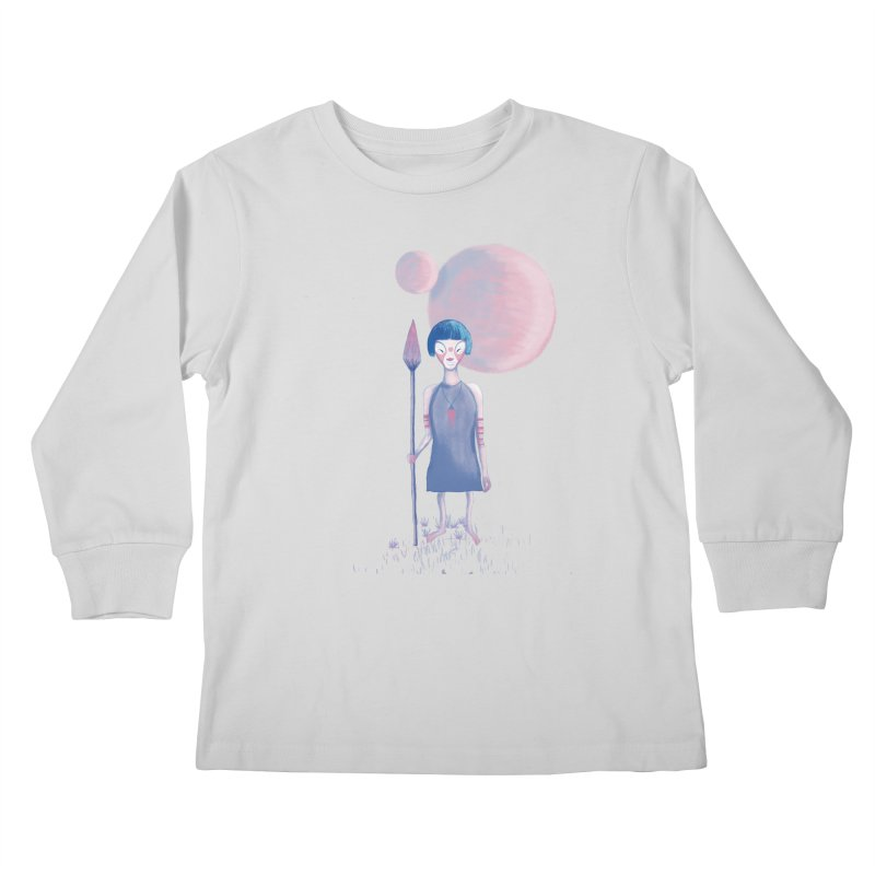 Girl from Kepler planet Kids Longsleeve T-Shirt by jrbenavente's Shop