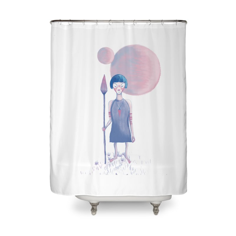 Girl Home Shower Curtain by jrbenavente's Shop