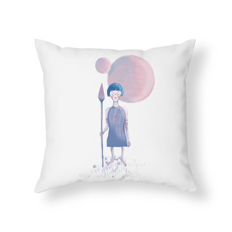 Girl from Kepler planet Home Throw Pillow by jrbenavente's Shop