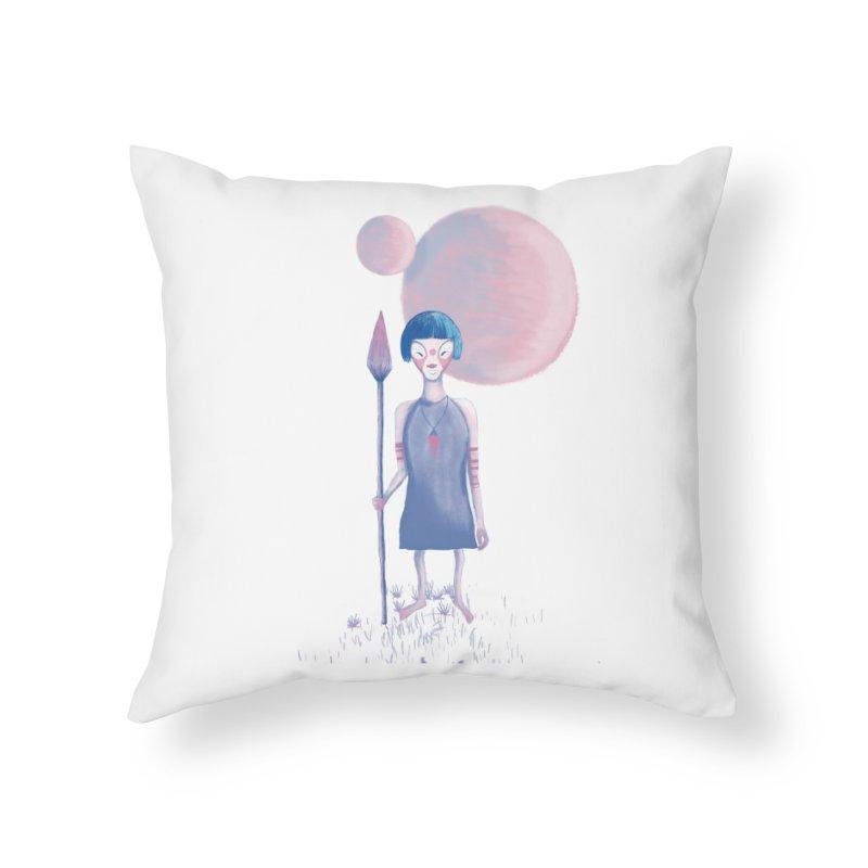 Girl Home Throw Pillow by jrbenavente's Shop