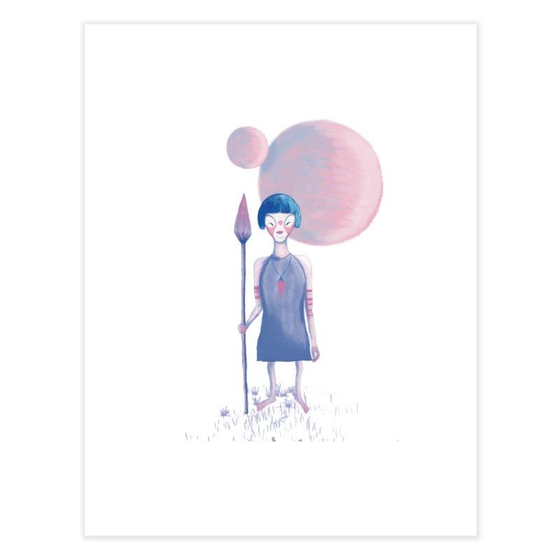 Girl from Kepler planet Home Fine Art Print by jrbenavente's Shop