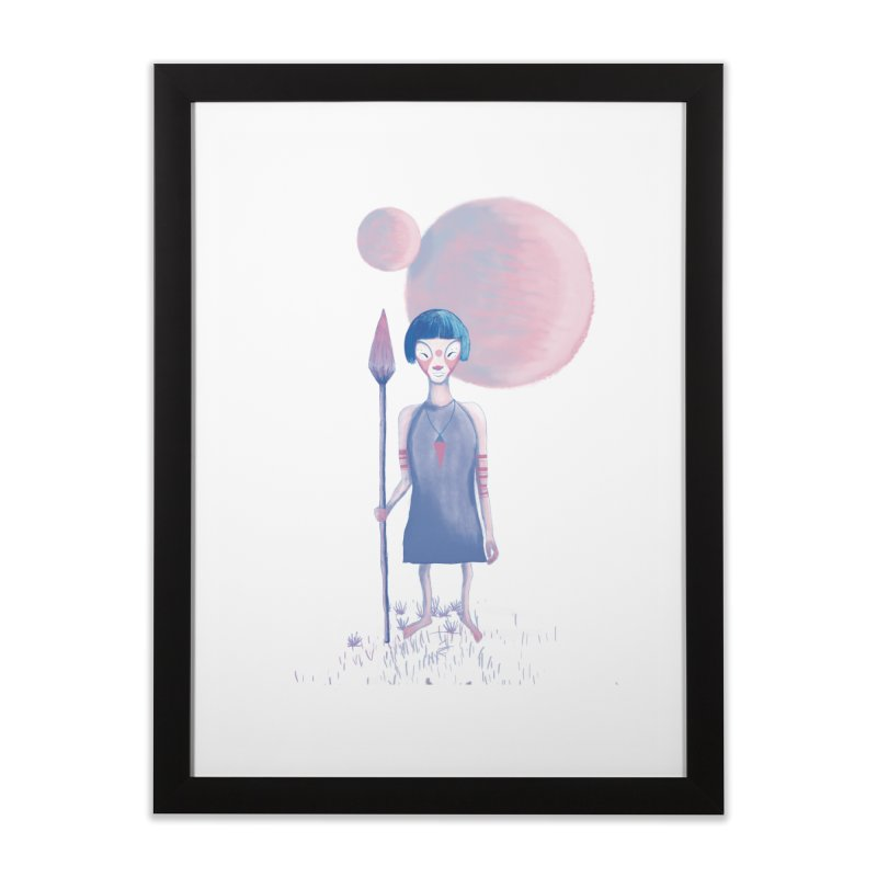 Girl from Kepler planet Home Framed Fine Art Print by jrbenavente's Shop