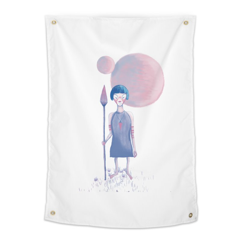 Girl from Kepler planet Home Tapestry by jrbenavente's Shop