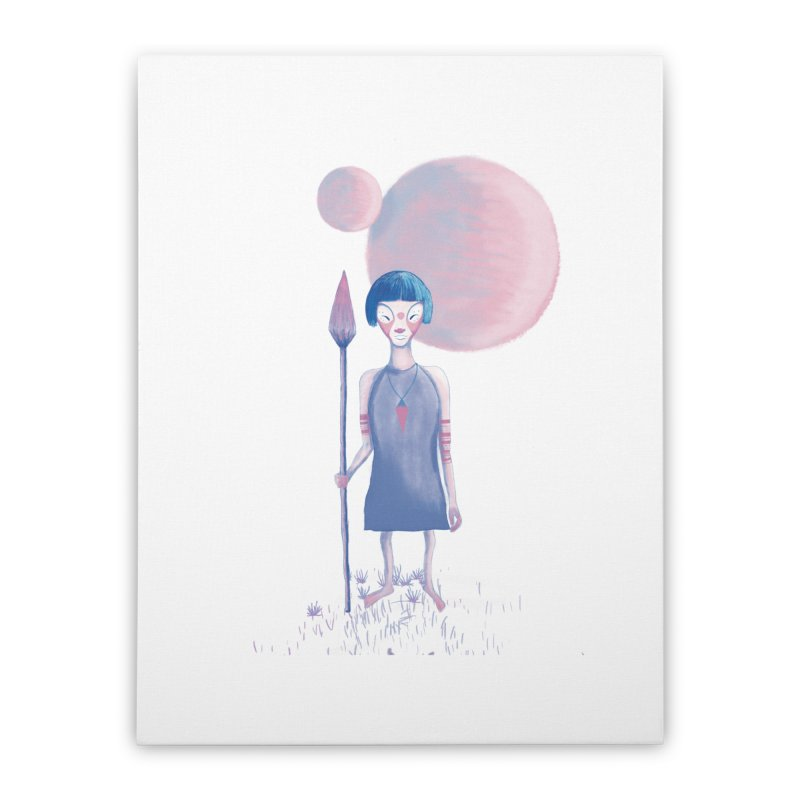 Girl from Kepler planet Home Stretched Canvas by jrbenavente's Shop