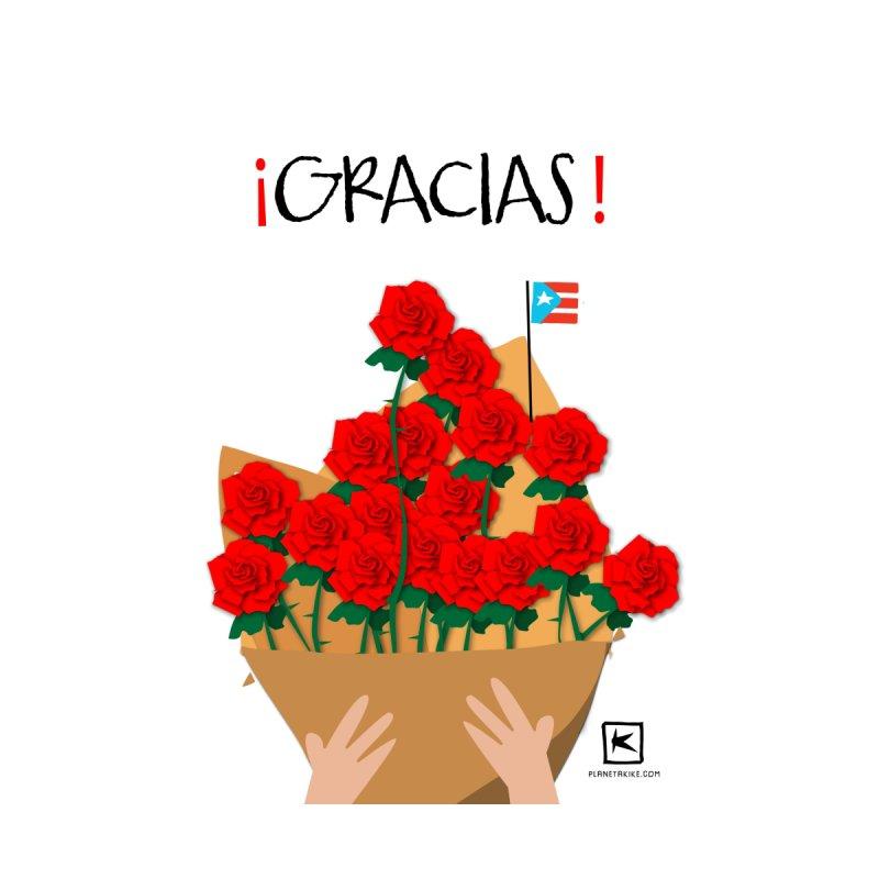 Gracias y flores Home Fine Art Print by planetakike's Artist Shop