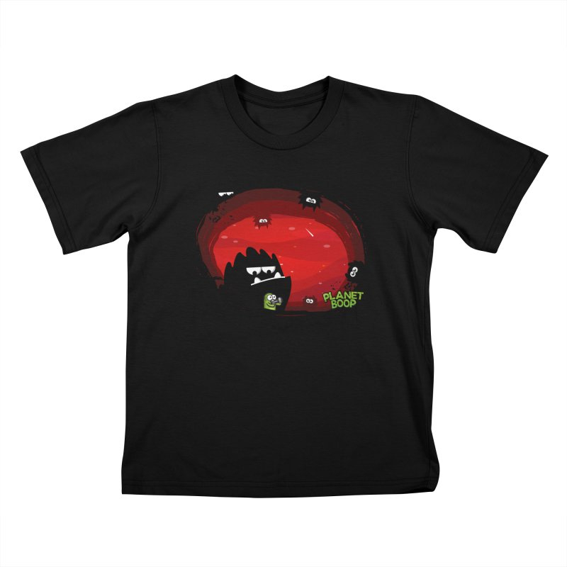 Darkie Invasion Kids T-Shirt by Planet Boop