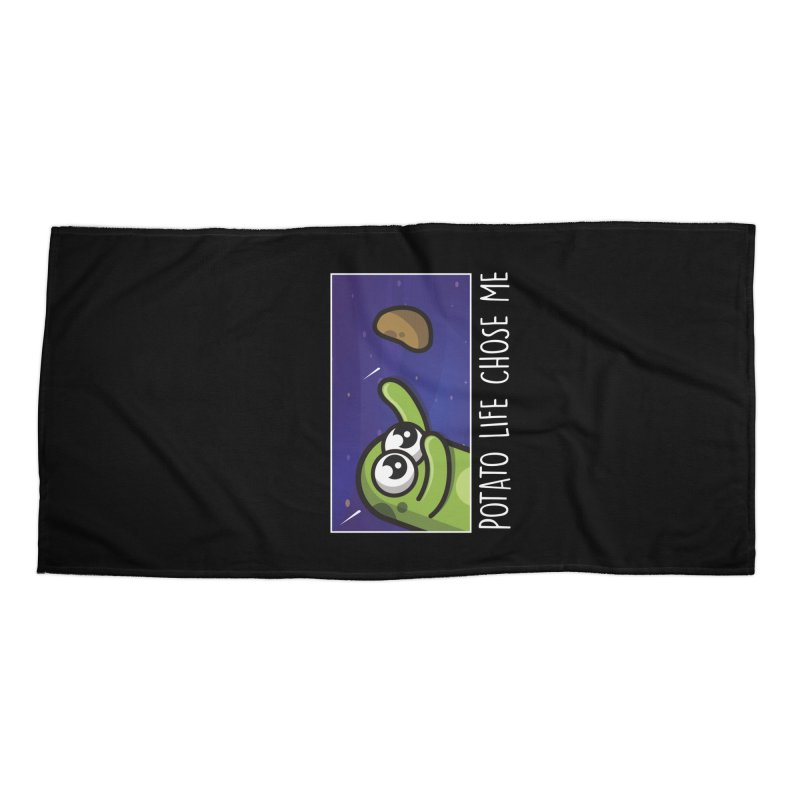 Potato life chose me Accessories Beach Towel by Planet Boop