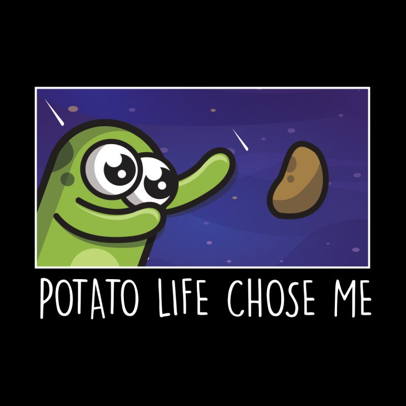 Potato life chose me Men's Longsleeve T-Shirt by Planet Boop