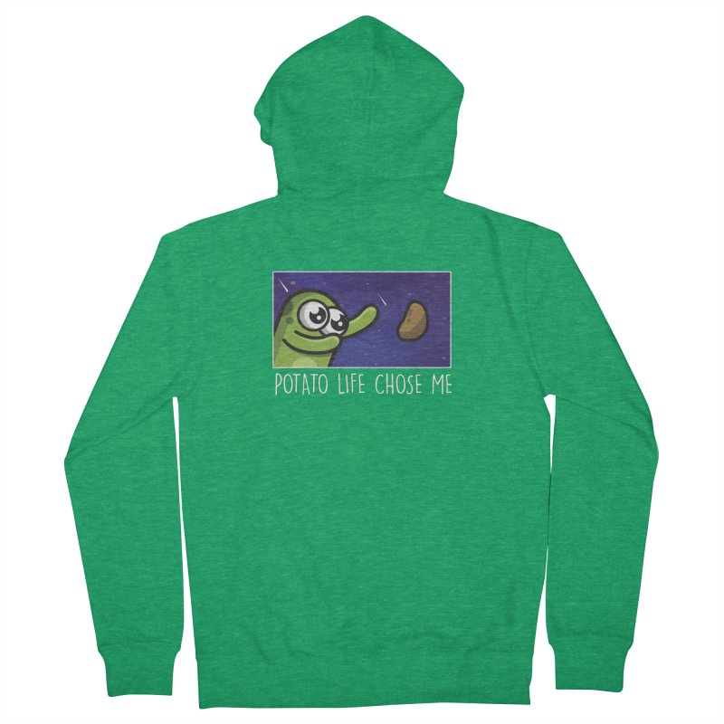 Potato life chose me Women's Zip-Up Hoody by Planet Boop