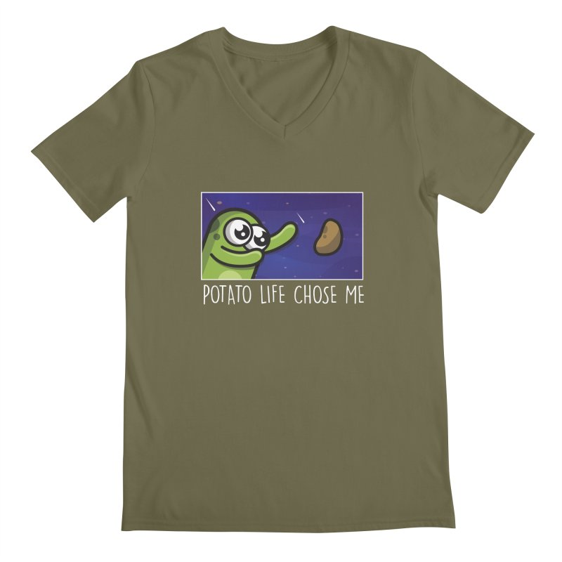 Potato life chose me Men's V-Neck by Planet Boop