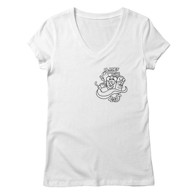Doodle Boop Women's V-Neck by Planet Boop