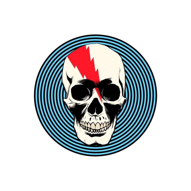 Bolt Skull Circle Men's T-Shirt by Planet Henderson's Artist Shop
