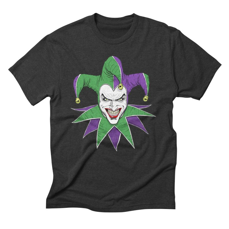 The Hateful Harlequin in Men's Triblend T-Shirt Heather Onyx by Planet Henderson's Artist Shop