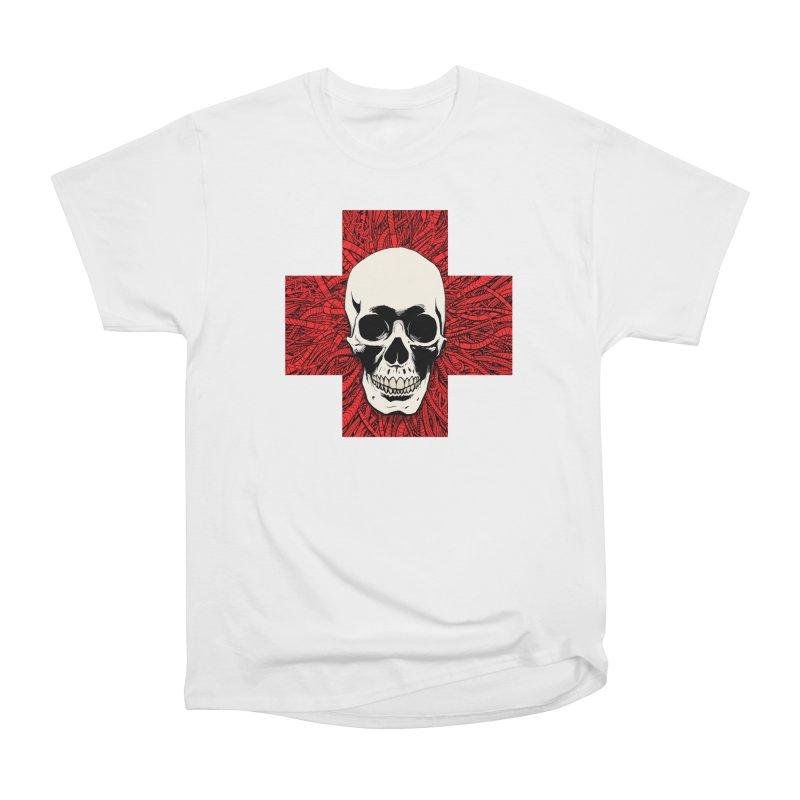 Skull Wire Cross Women's T-Shirt by Planet Henderson's Artist Shop