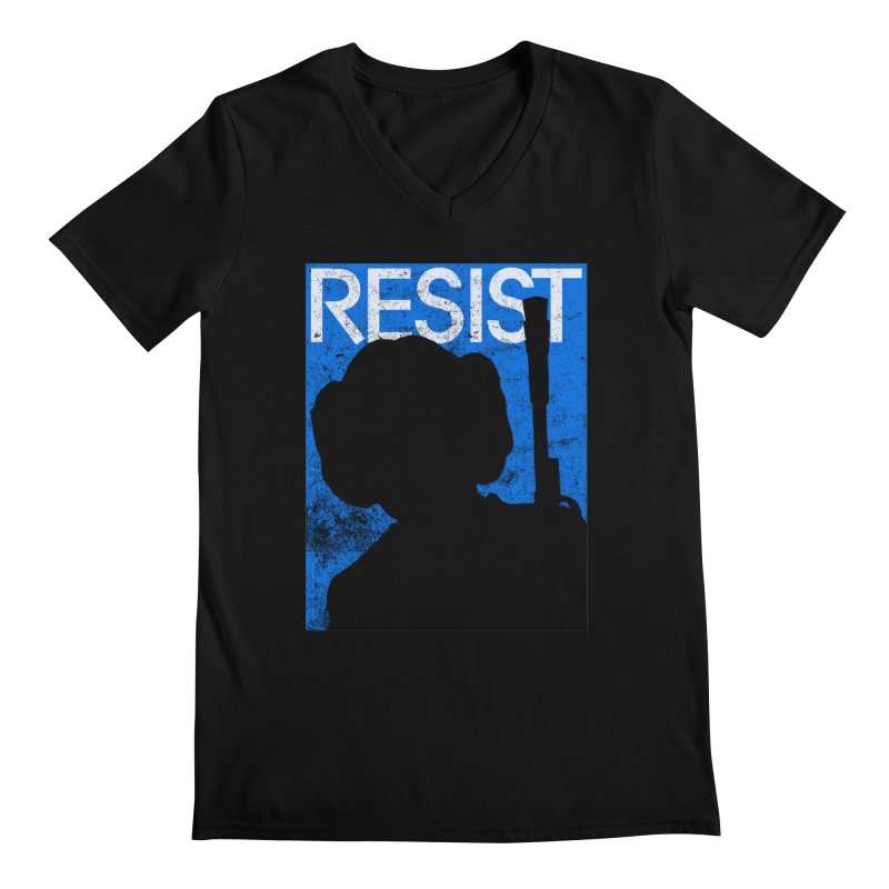 Resist! Men's Regular V-Neck by Planet Henderson's Artist Shop