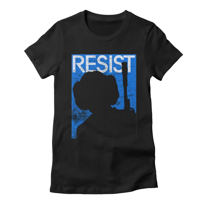 Resist! in Women's Fitted T-Shirt Black by Planet Henderson's Artist Shop