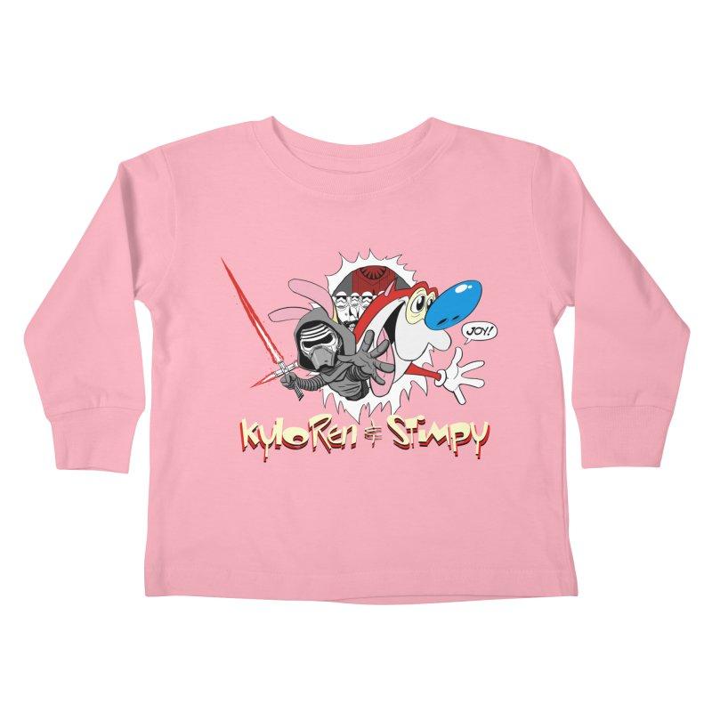 Kylo Ren & Stimpy! Kids Toddler Longsleeve T-Shirt by Planet Henderson's Artist Shop