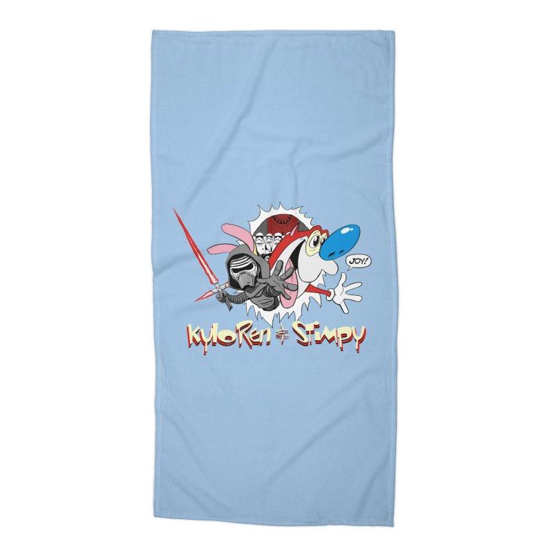 Kylo Ren & Stimpy! Accessories Beach Towel by Planet Henderson's Artist Shop