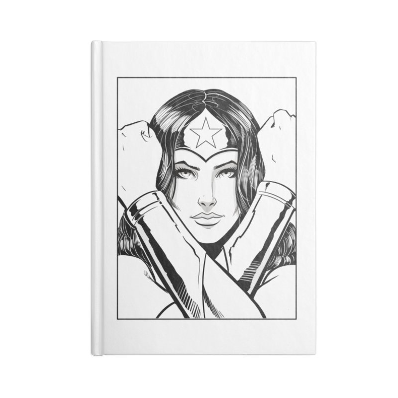 The Amazon (B&W) Accessories Notebook by Planet Henderson's Artist Shop