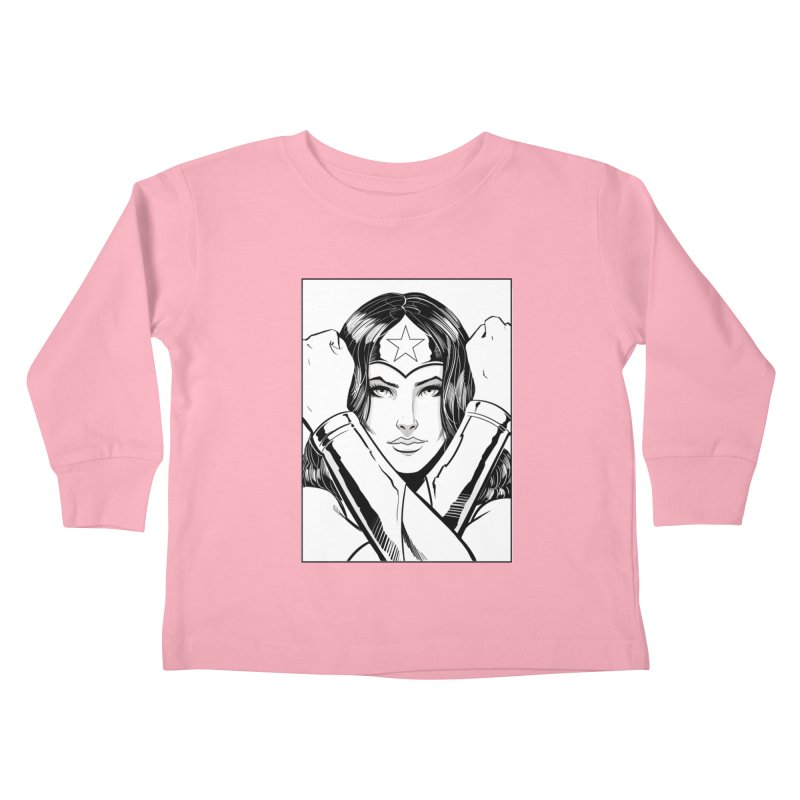 The Amazon (B&W) Kids Toddler Longsleeve T-Shirt by Planet Henderson's Artist Shop