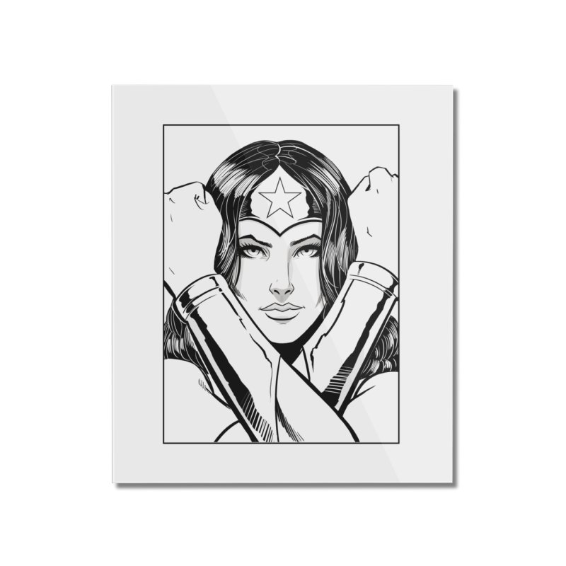The Amazon (B&W) Home Mounted Acrylic Print by Planet Henderson's Artist Shop