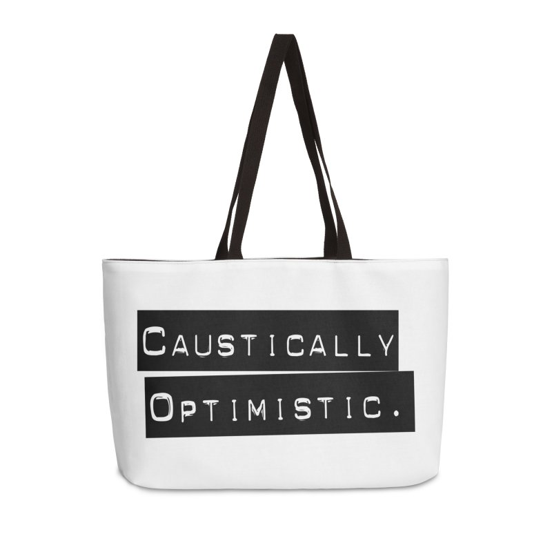Caustically Optimistic Accessories Weekender Bag Bag by Planet Henderson's Artist Shop