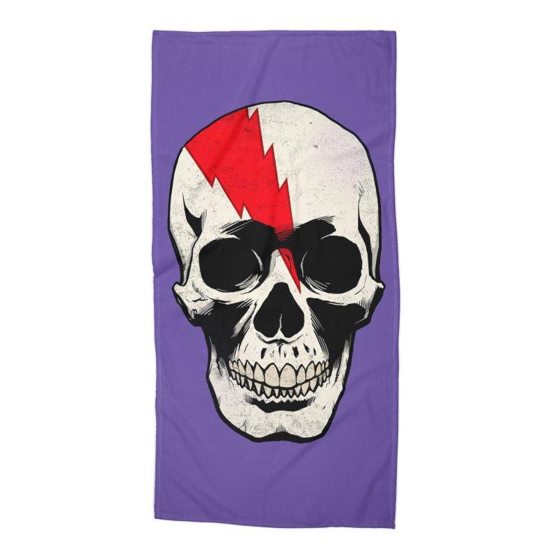 Bolt Skull (Version A) Accessories Beach Towel by Planet Henderson's Artist Shop