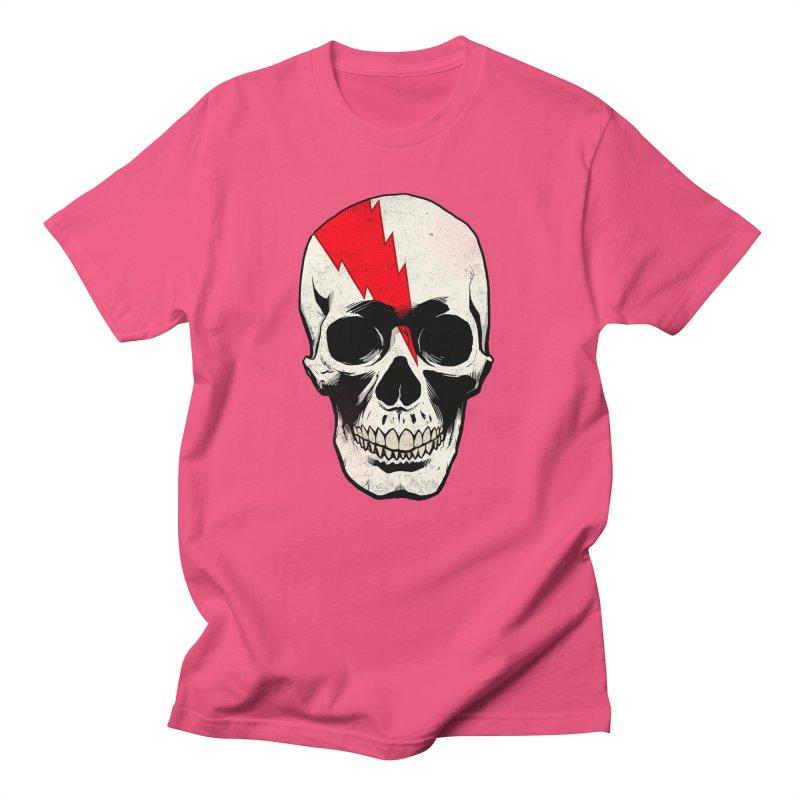 Bolt Skull (Version A) Men's T-Shirt by Planet Henderson's Artist Shop