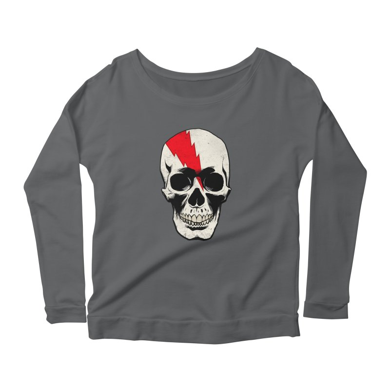 Bolt Skull (Version A) Women's Longsleeve T-Shirt by Planet Henderson's Artist Shop