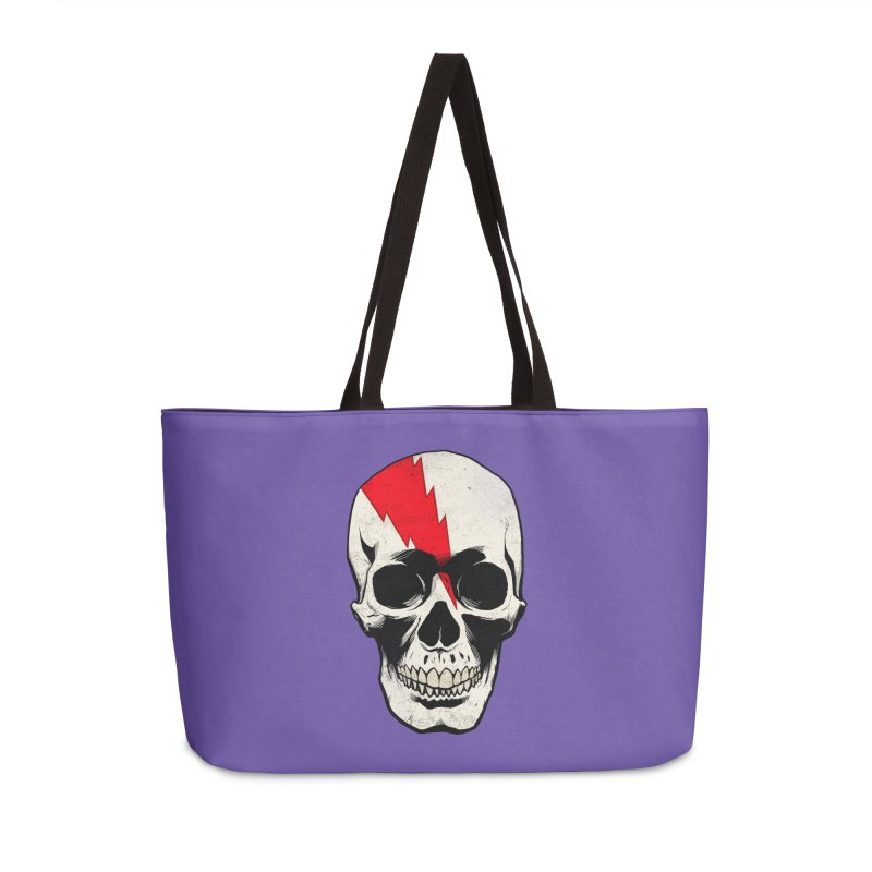 Bolt Skull (Version A) Accessories Weekender Bag Bag by Planet Henderson's Artist Shop