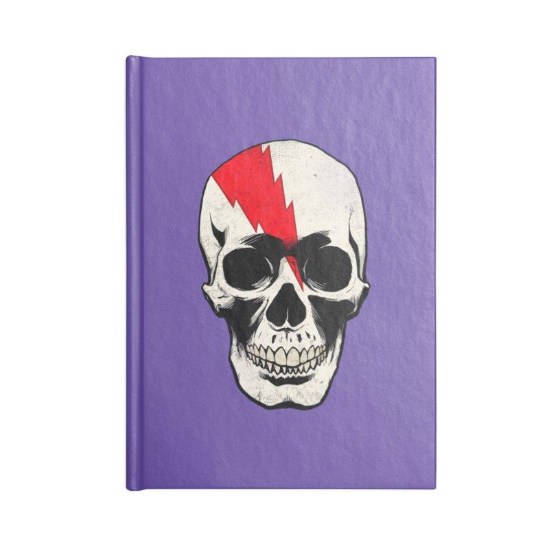 Bolt Skull (Version A) Accessories Notebook by Planet Henderson's Artist Shop