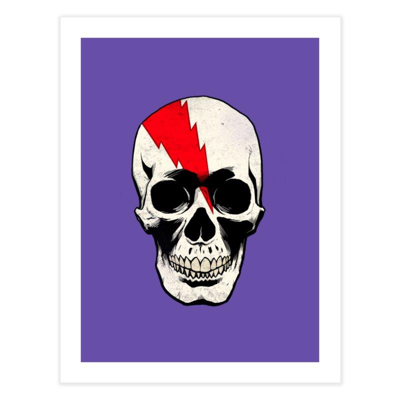 Bolt Skull (Version A) Home Fine Art Print by Planet Henderson's Artist Shop