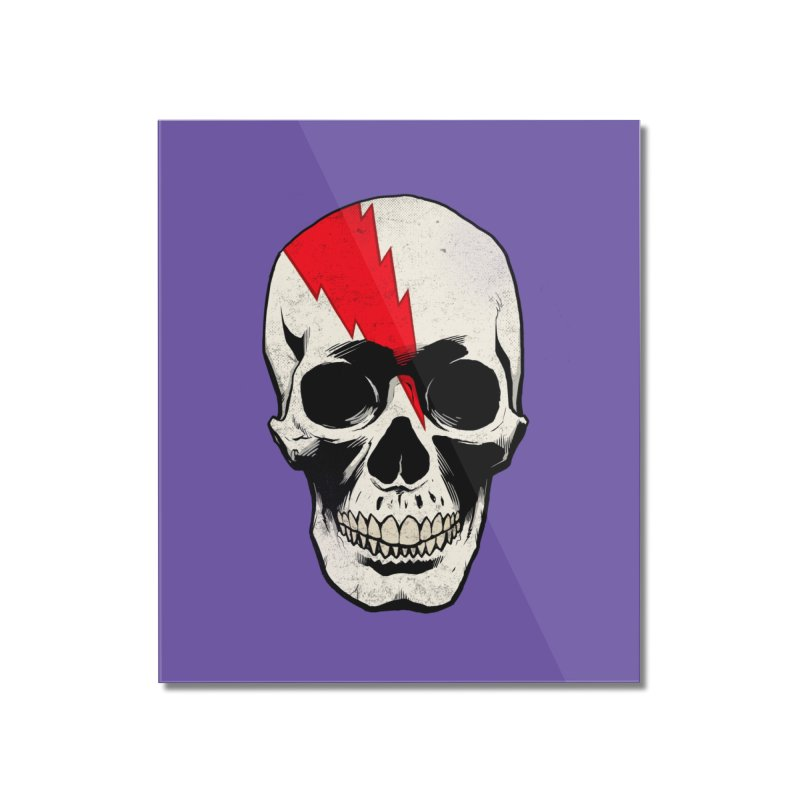 Bolt Skull (Version A) Home Mounted Acrylic Print by Planet Henderson's Artist Shop