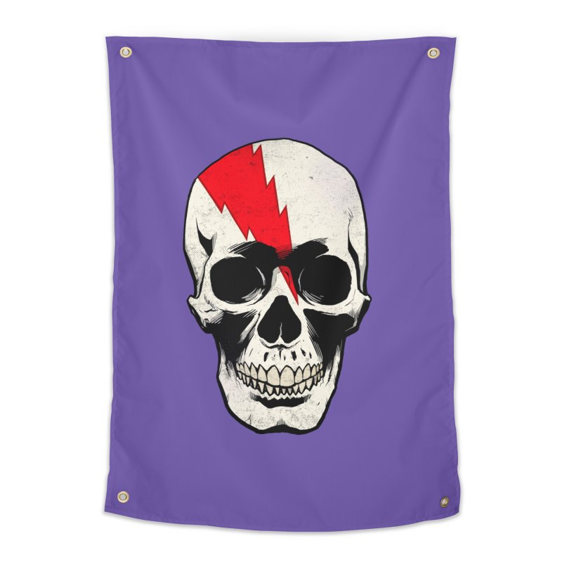 Bolt Skull (Version A) Home Tapestry by Planet Henderson's Artist Shop