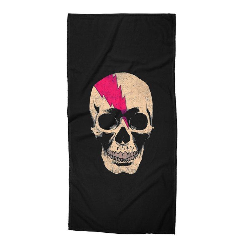 Bolt Skull (Version B) Accessories Beach Towel by Planet Henderson's Artist Shop