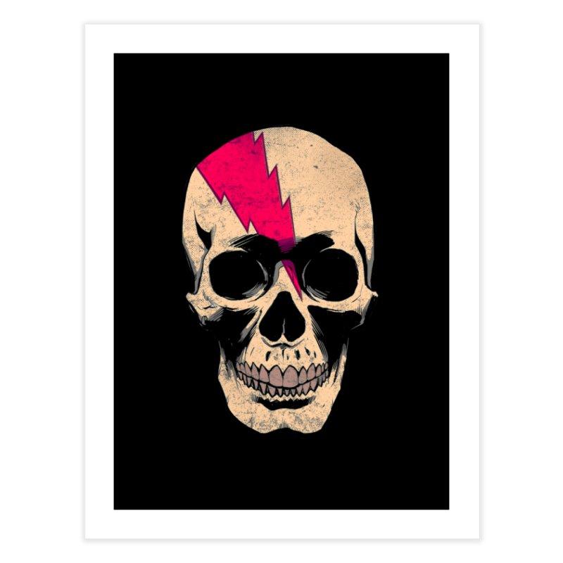Bolt Skull (Version B) Home Fine Art Print by Planet Henderson's Artist Shop