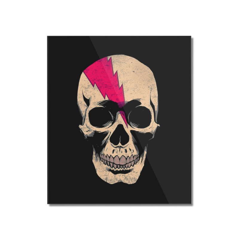 Bolt Skull (Version B) Home Mounted Acrylic Print by Planet Henderson's Artist Shop