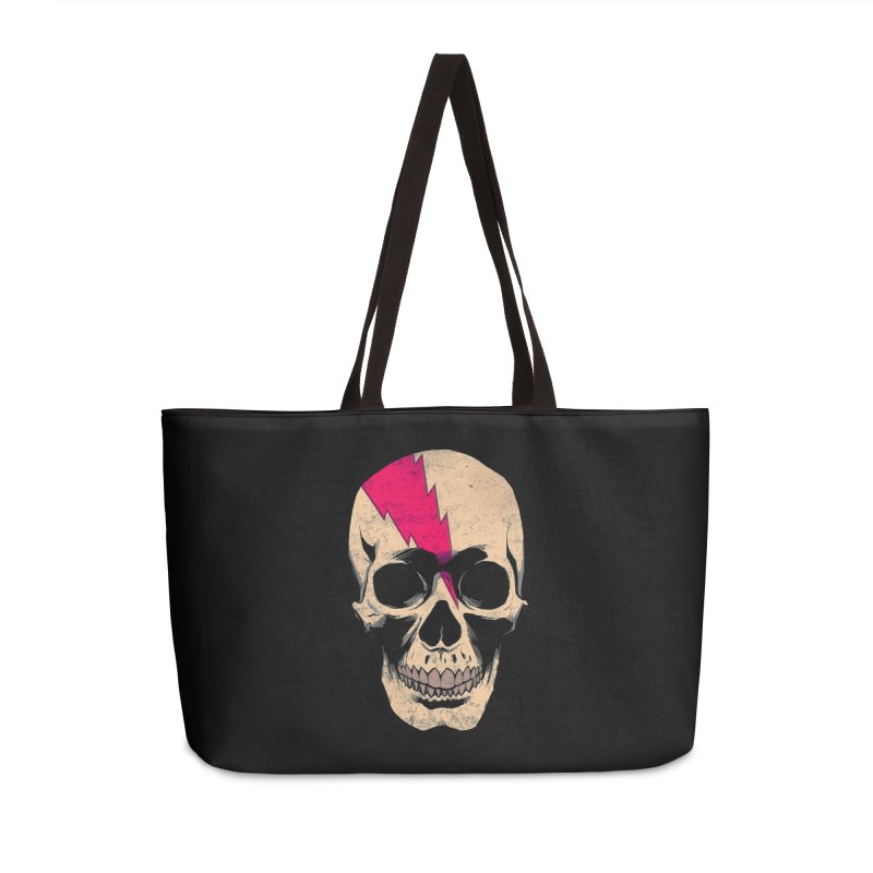 Bolt Skull (Version B) Accessories Weekender Bag Bag by Planet Henderson's Artist Shop