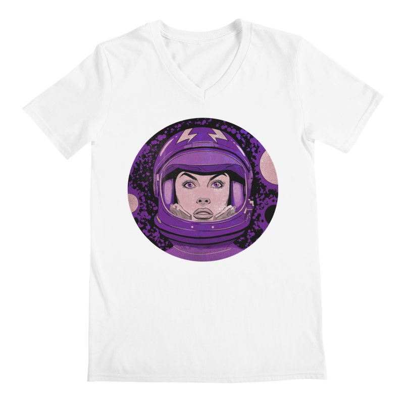 Astro-Girl! (Vintage) Men's Regular V-Neck by Planet Henderson's Artist Shop