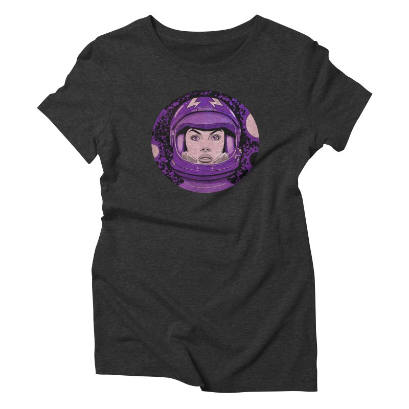 Astro-Girl! (Vintage) in Women's Triblend T-Shirt Heather Onyx by Planet Henderson's Artist Shop