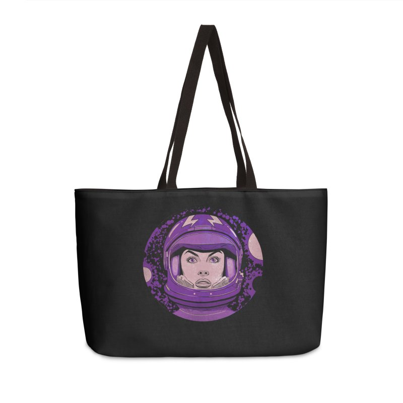 Astro-Girl! (Vintage) Accessories Weekender Bag Bag by Planet Henderson's Artist Shop