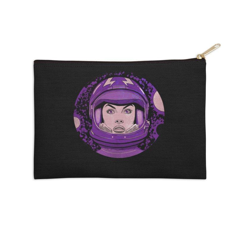 Astro-Girl! (Vintage) Accessories Zip Pouch by Planet Henderson's Artist Shop