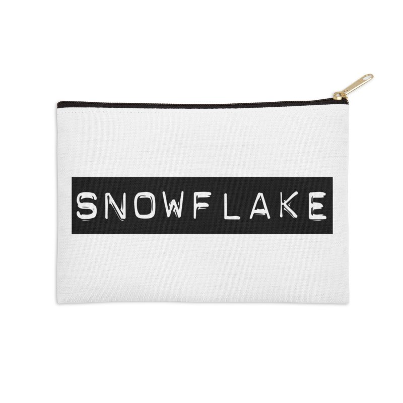 Snowflake Accessories Zip Pouch by Planet Henderson's Artist Shop