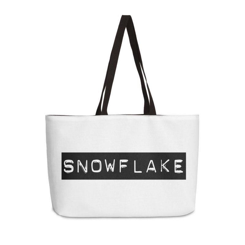 Snowflake Accessories Weekender Bag Bag by Planet Henderson's Artist Shop