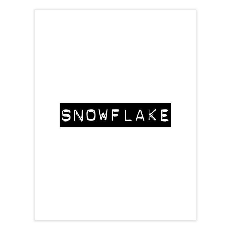 Snowflake Home Fine Art Print by Planet Henderson's Artist Shop