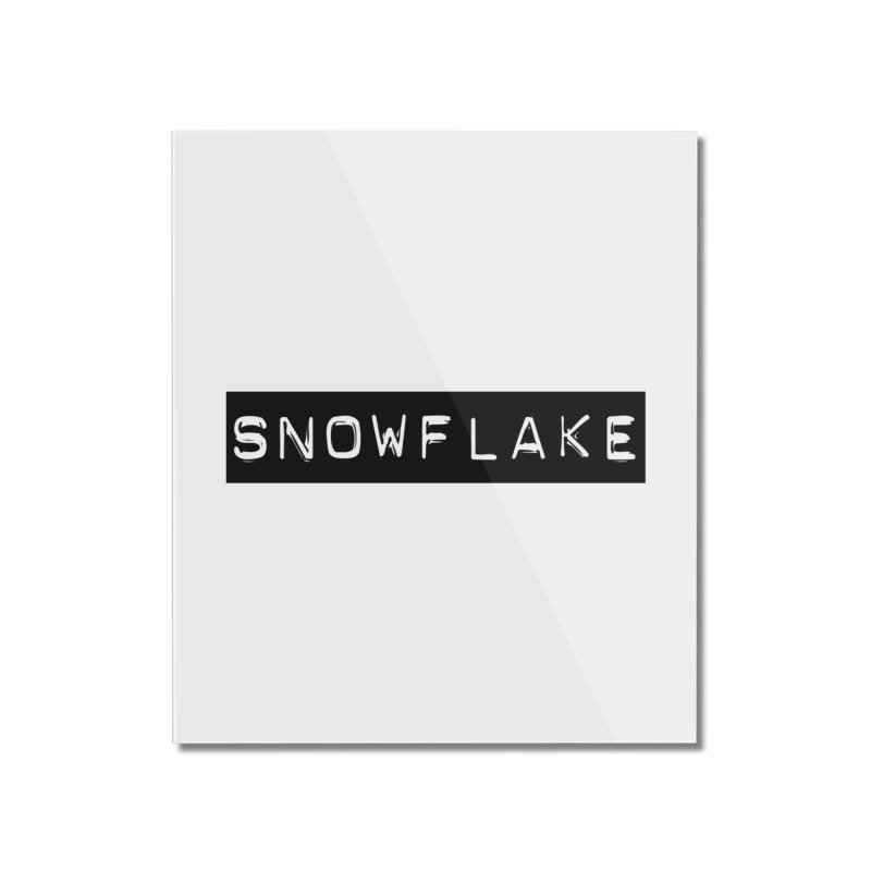 Snowflake Home Mounted Acrylic Print by Planet Henderson's Artist Shop