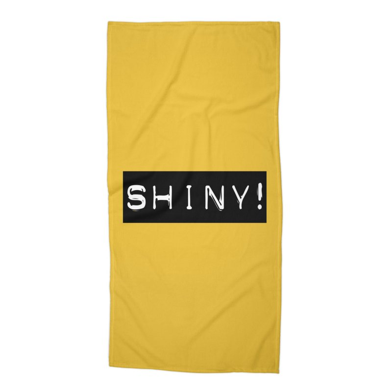 Shiny! Accessories Beach Towel by Planet Henderson's Artist Shop